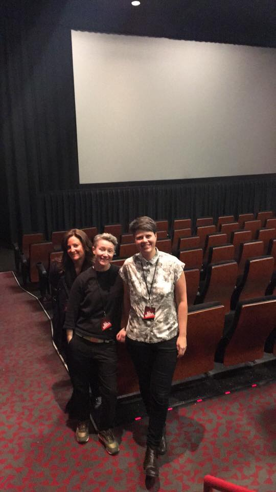 with Producer Lisa Thrasher and Director, Giovanna Chesler at the Richmond International Film Festival. 2017.